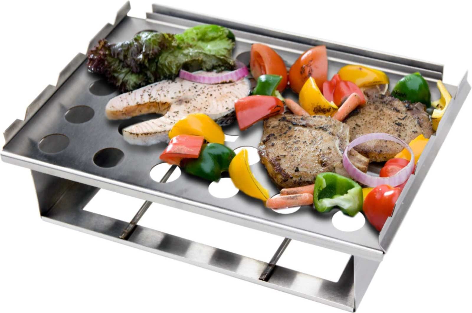 Man Law Bbq Bbq Grill Topper 5 In One Multifunctional